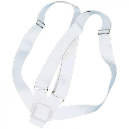 PCB-150 Double Harness Carrying Belts, White Webbing-0