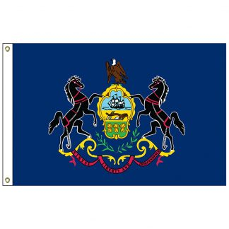 SF-103-PENNSYLVANIA Pennsylvania 3' x 5' Nylon Flag with Heading and Grommets-0