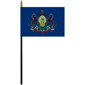 "MRF-46-PENNSYLVANIA Pennsylvania 4"" x 6"" Staff Mounted Rayon-0"