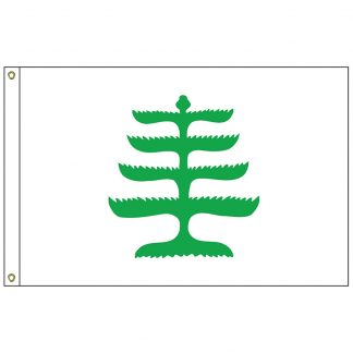 HF-426 Pine Tree 3' x 5' Outdoor Nylon Flag with Heading and Grommets-0