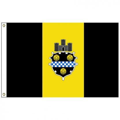 CF-3X5-PITTSBURGH Pittsburgh 3' x 5' Nylon Flag with Heading and Grommets-0