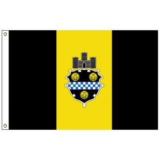 CF-2X3-PITTSBURGH Pittsburgh 2' x 3' Nylon Flag with Heading and Grommets-0