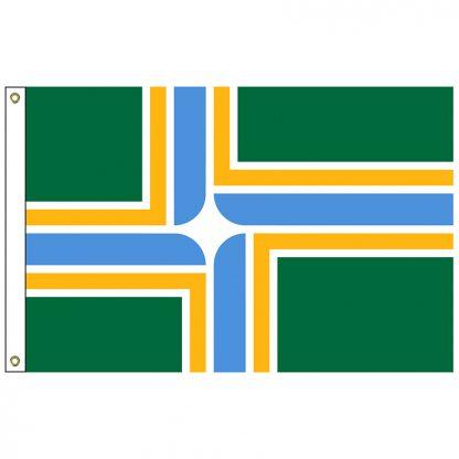 CF-6X10-PORTLAND Portland 6' x 10' Nylon Flag with Heading and Grommets-0