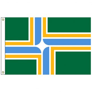 CF-3X5-PORTLAND Portland 3' x 5' Nylon Flag with Heading and Flag -0