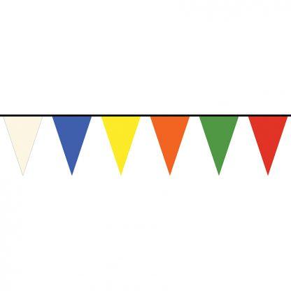 PS8-60-A 60' Multi-color 8 Mil Polyethylene Pennant Strings-0