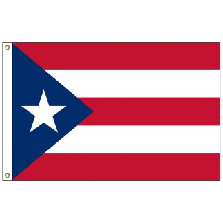 SF-102-PUERTORICO Puerto Rico 2' x 3' Nylon Flag with Heading and Grommets-0