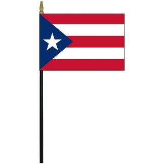 "MRF-46-PUERTORICO Puerto Rico 4"" x 6"" Staff Mounted Rayon-0"