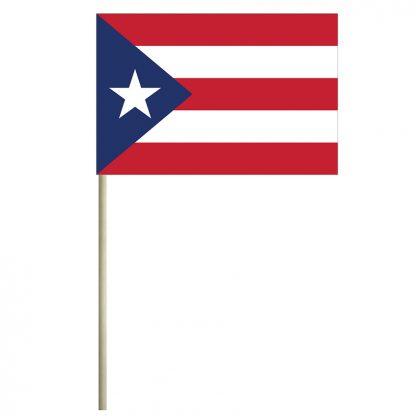 "ECM-46-PUERTORICO Puerto Rico 4"" x 6"" Mtd Cotton Stick Flag-0"