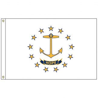 SF-104P-RHODEISLAND Rhode Island 4' x 6' 2-ply Polyester Flag with Heading and Grommets-0