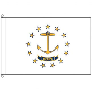 SF-1218-RHODEISLAND Rhode Island 12' x 18' Nylon Flag with Rope and Thimble-0
