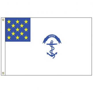 HF-428 R.I. Regiment 3' x 5' Outdoor Nylon Flag with Heading and Grommets-0