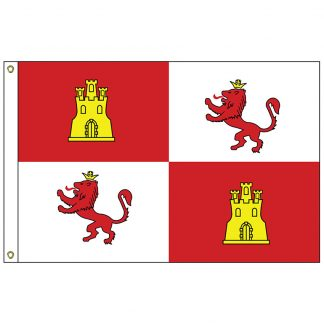 HF-429 Royal Standard of Spain 3' x 5' Outdoor Nylon Flag with Heading and Grommets-0