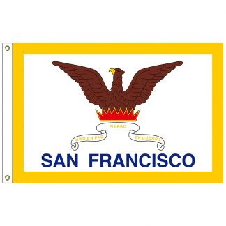 CF-5X8-SANFRAN San Francisco 5' x 8' Nylon Flag with Heading and Grommets-0
