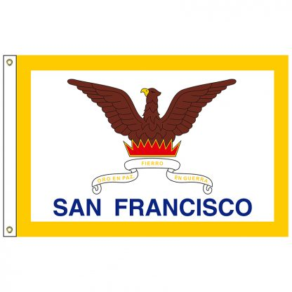 CF-3X5-SANFRAN San Francisco 3' x 5' Nylon Flag with Heading and Grommets-0