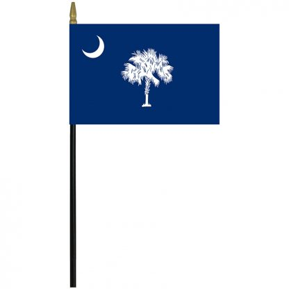 """MRF-46-SOUTHCAROLINA South Carolina 4x6"""" Staff Mounted Rayon-0"""