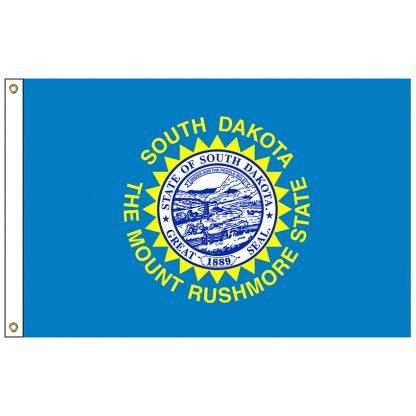 SF-106-SDAKOTA South Dakota 6' x 10' Nylon Flag with Heading and Grommets-0