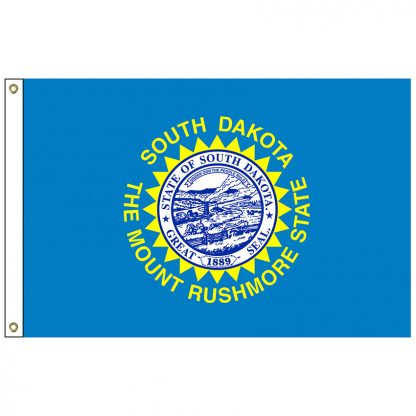 SF-105-SDAKOTA South Dakota 5' x 8' Nylon Flag with Heading and Grommets-0