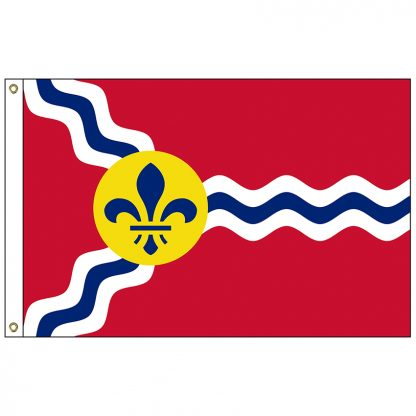 CF-5X8-STLOUIS St. Louis 5' x 8' Nylon Flag with Heading and Grommets-0