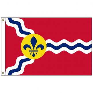 CF-3X5-STLOUIS St. Louis 3' x 5' Nylon Flag with Heading and Grommets-0