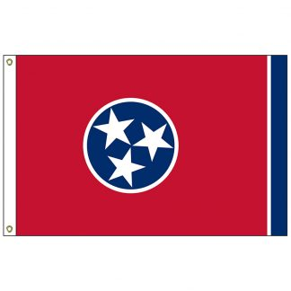 SF-103P-TENNESSEE Tennessee 3' x 5' 2-ply Polyester Flag with Heading and Grommets-0