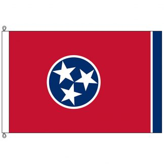SF-1218-TENNESSEE Tennessee 12' x 18' Nylon Flag with Rope and Thimble-0