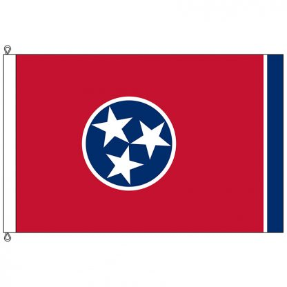 SF-812-TENNESSEE Tennessee 8' x 12' Nylon Flag with Rope and Thimble-0