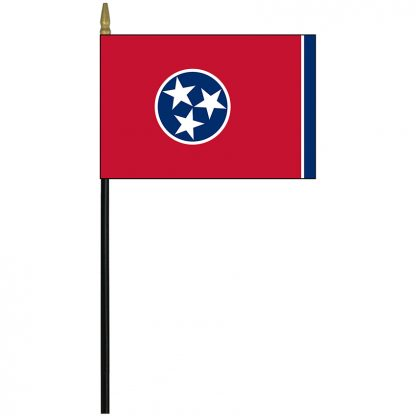 """MRF-46-TENNESSEE Tennessee 4"""" x 6"""" Staff Mounted Rayon-0"""