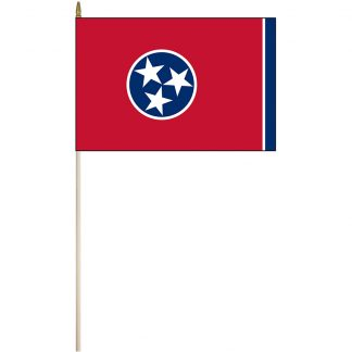 """EPC-1218-TENNESSEE Tennessee 12"""" x 18"""" Stick Flag-0"""