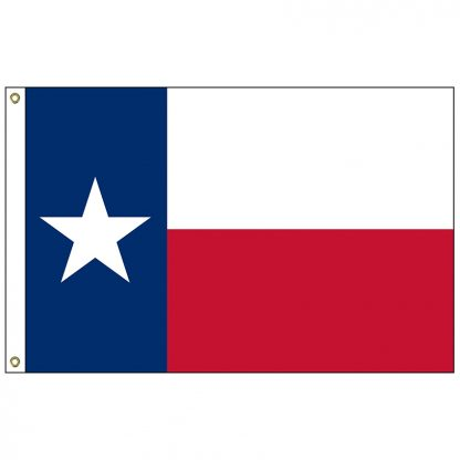 SF-105P-TEXAS Texas 5' x 8' 2-ply Polyester Flag with Heading and Grommets-0