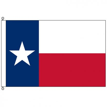 SF-1015P-TEXAS Texas 10' x 15' 2-ply Polyester Flag with Rope and Thimble-0