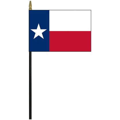 "MRF-46-TEXAS Texas 4"" x 6"" Staff Mounted Rayon-0"