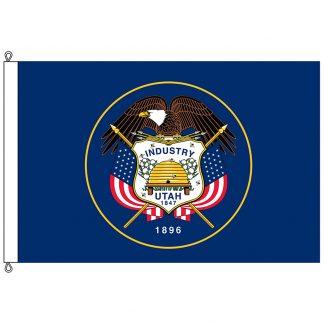 SF-1218-UTAH Utah 12' x 18' Nylon Flag with Rope and Thimble-0