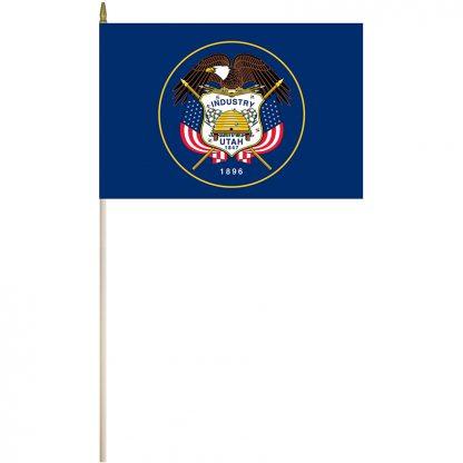 """EPC-1218-UTAH Utah 12"""" x 18"""" Stick Flag-0"""
