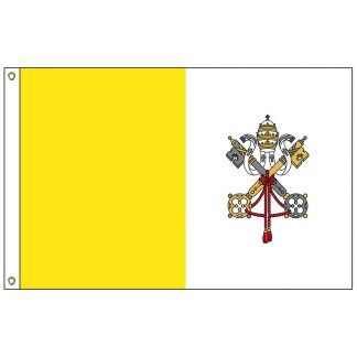 093150 Papal 2' x 3' Nylon Flag with Heading and Grommets-0