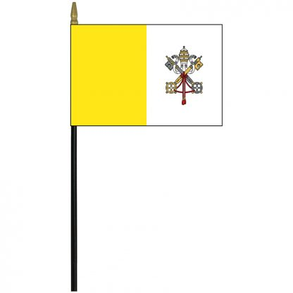 """MRF-46-PAPAL Papal 4'' x 6"""" Staff Mounted Rayon-0"""