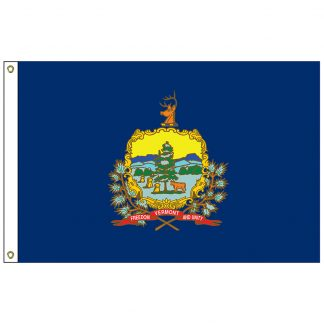 SF-104P-VERMONT Vermont 4' x 6' 2-ply Polyester Flag with Heading and Grommets-0
