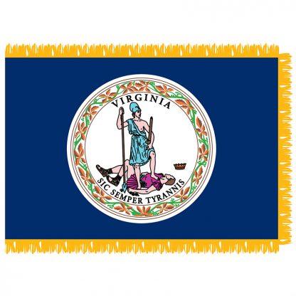 SFI-204-VIRGINIA Virginia 4' x 6' Indoor Flag-0
