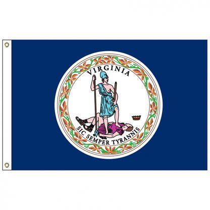 SF-104-VIRGINIA Virginia 4' x 6' Nylon Flag with Heading and Grommets-0