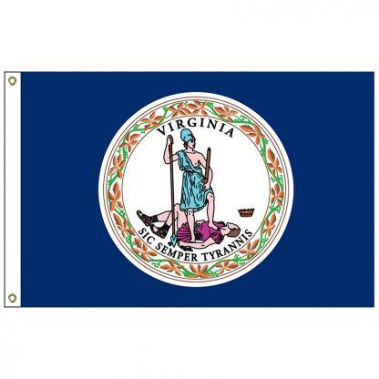 "SF-101-VIRGINIA Virginia 12"" x 18"" Nylon Flag with Heading and Grommets-0"