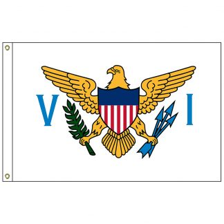 "SF-101-USVIRGINISLAN U.S. Virgin Islands 12"" x 18"" Nylon Flag with Heading and Grommets-0"