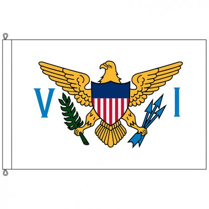 SF-812-USVIRGINISLAN U.S. Virgin Island 8x12' Nylon Flag with Rope and Thimble-0