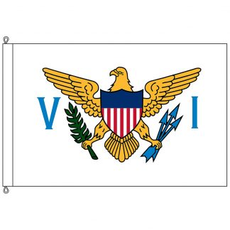 SF-1015-VIRGINISLAND U.S. Virgin Islands 10' x 15' Nylon Flag with Rope and Thimble-0