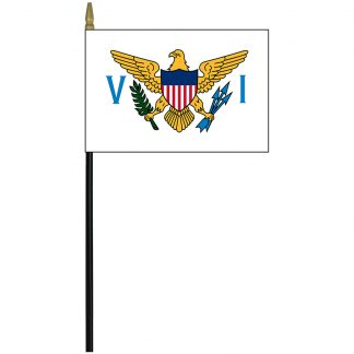 "MRF-46-USVIRGINISLA US Virgin Islands 4"" x 6"" Staff Mounted Rayon-0"