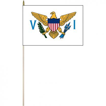 "EPC-1218-USVIRGINISLANDS U.S. Virgin Islands 12"" x 18"" Stick Flag-0"