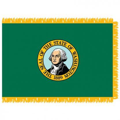 SFI-204-WASHINGTON Washington 4' x 6' Indoor Flag-0