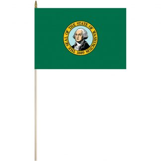 "EPC-1218-WASHINGTON Washington 12"" x 18"" Stick Flag-0"