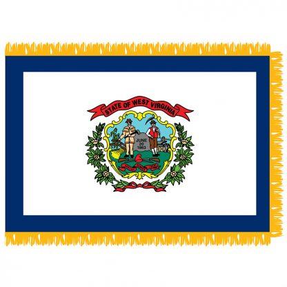 SFI-204-WVIRGINIA West Virginia 4' x 6' Indoor Flag-0