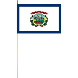 "EPC-1218-WESTVIRGINI West Virginia 12"" x18"" Stick Flag-0"
