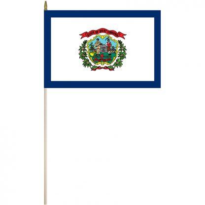 """EPC-1218-WESTVIRGINI West Virginia 12"""" x18"""" Stick Flag-0"""