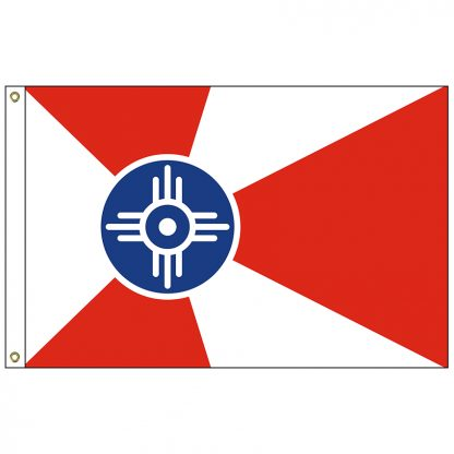 CF-6X10-WICHITA Wichita 6' x 10' Nylon Flag with Heading and Grommets-0